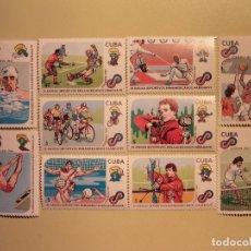 Sellos: CUBA 1989 - XI JUEGOS DEPORTIVOS PANAMERICANOS HABANA/91 . Lote 94806991