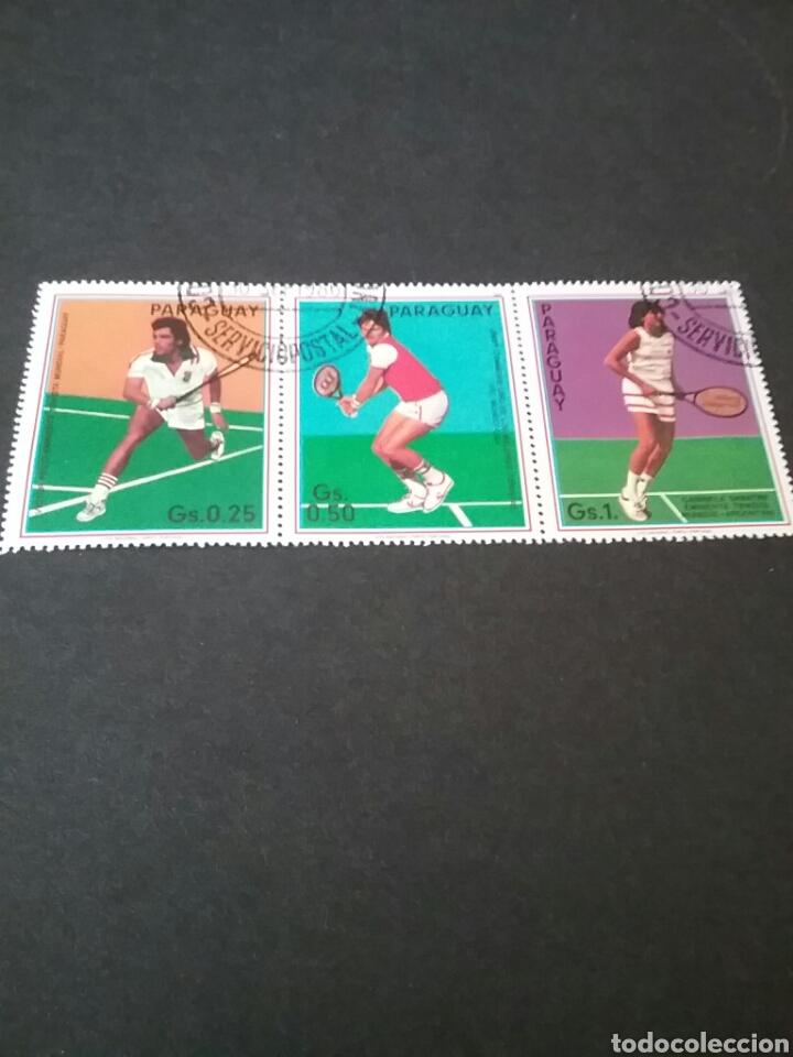 SELLOS DE PARAGUAY MATASELLADOS. 1986. TENIS. DEPORTES. (Sellos - Temáticas - Deportes)