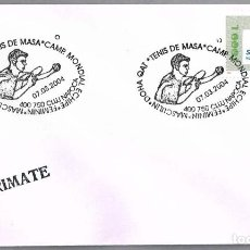 Sellos: MATASELLOS CAMPEONATO DEL MUNDO TENIS DE MESA - DOHA CATAR. CLUJ NAPOCA, RUMANIA, 2004. Lote 96509415