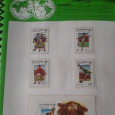 Sellos: GAMBIA 1986 HOJA BLOQUE + SELLOS CONMEMORATIVOS DE LA COPA MUNDIAL DE FUTBOL MÉXICO 86- FIFA . Lote 97456667