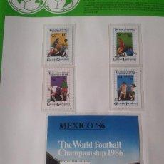 Sellos: GRANADA GRENADINES 1986 HOJA BLOQUE + SELLOS DE LA COPA MUNDIAL DE FUTBOL MÉXICO 86- FIFA . Lote 97458323