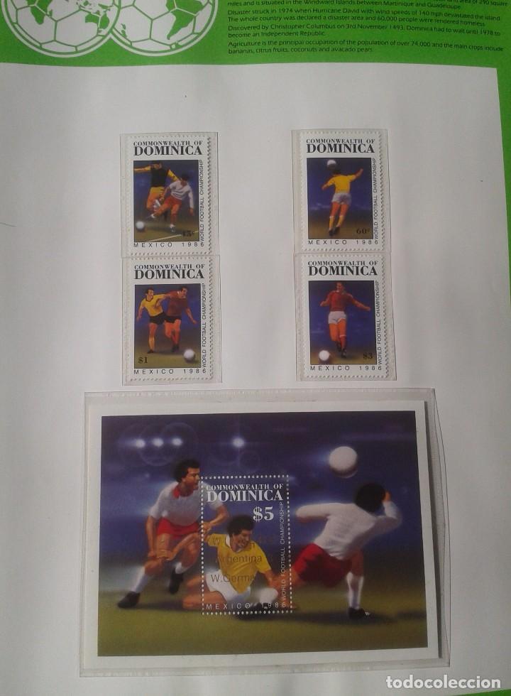 GRANADA GRENADINES 1986 HOJA BLOQUE + SELLOS DE LA COPA MUNDIAL DE FUTBOL MÉXICO 86- FIFA (Sellos - Temáticas - Deportes)