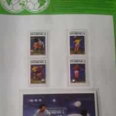 Sellos: GRANADA GRENADINES 1986 HOJA BLOQUE + SELLOS DE LA COPA MUNDIAL DE FUTBOL MÉXICO 86- FIFA . Lote 97458423