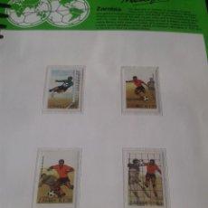 Sellos: ZAMBIA 1986 HOJA BLOQUE + SELLOS CONMEMORATIVOS DE LA COPA MUNDIAL DE FUTBOL MÉXICO 86- FIFA . Lote 97458819