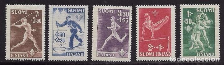 FINLANDIA 1945 - DEPORTES - YVERT Nº 282-286 (Sellos - Temáticas - Deportes)