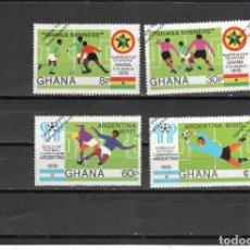 Sellos: GHANA Nº 618 AL 621 (**). Lote 98635059