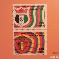 Sellos: ITALIA 1990 - FÚTBOL - CAMPEONATO DEL MUNDO DE FÚTBOL - ITALIA´90 - EMIRATOS ARABES Y BELGICA. Lote 98866119