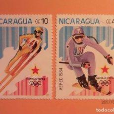 Sellos: NICARAGUA - 1984 - SARAJEVO 84 - ESQUI.. Lote 98866703