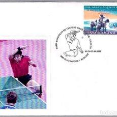 Sellos: MATASELLOS CAMP. DE EUROPA TENIS DE MESA EN ZAGREB-CROACIA. CLUJ NAPOCA, RUMANIA, 2002. Lote 99236979