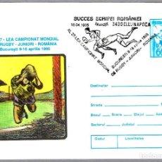 Sellos: MATASELLOS 27 CAMPEONATO DEL MUNDO JUNIOR DE RUGBY BUCURESTI 1995. CLUJ NAPOCA, RUMANIA, 1995. Lote 99372683