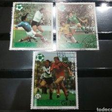 Sellos: SELLOS DE PARAGUAY MATASELLADOS. 1981. FUTBOL. DEPORTES. CAMPEONATO. ESPAÑA. MUNDIAL.. Lote 101619366