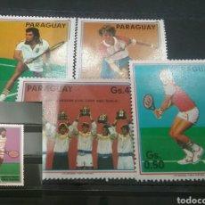 Sellos: SELLOS DE PARAGUAY NUEVOS. 1986. TENIS. DEPORTES. JUEGOS. PECCI, V. CONNORS, Y.. Lote 99932142