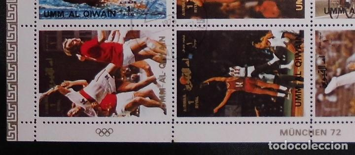 Sellos: DEPORTES HOJA, UMM AL QIWAIN 1972, GANADORES DE LAS OLIMPIADAS MUNICH ALEMANIA 1972 - Foto 2 - 104082415