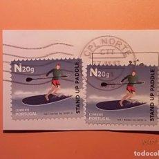 Sellos: PORTUGAL - DEPORTE AGUA - SURF PADDEL.. Lote 105339691