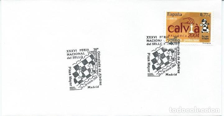 2004. SPAIN. MADRID. MATASELLOS/POSTMARK. FERIA NAC. DEL SELLO. OLIMPIADA DE AJEDREZ. CHESS. SPORTS. (Sellos - Temáticas - Deportes)