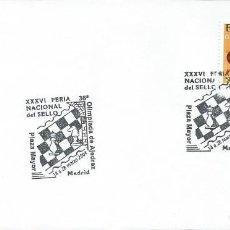 Sellos: 2004. SPAIN. MADRID. MATASELLOS/POSTMARK. FERIA NAC. DEL SELLO. OLIMPIADA DE AJEDREZ. CHESS. SPORTS.. Lote 107521387