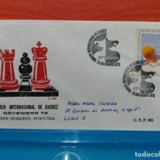 Francobolli: AJEDREZ. PORTUGAL. TORNEO INTERNACIONAL DE AJEDREZ EN ALVOR (ALGARVE). 1975. Lote 108260739