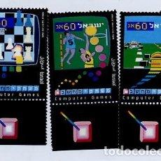 Sellos: SELLOS AJEDREZ STAMPS CHESS NUEVOS - ISRAEL 1990 - JUEGOS DE ORDENADOR - BALONCESTO - COCHES. Lote 109490071