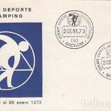 Sellos: AÑO 1973, SALON DEL DEPORTE Y CAMPING, SOBRE DE ALFIL AZUL . Lote 109825571