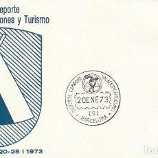 Sellos: AÑO 1973, SALON DEL DEPORTE Y CAMPING, SOBRE DE ALFIL. Lote 109826151