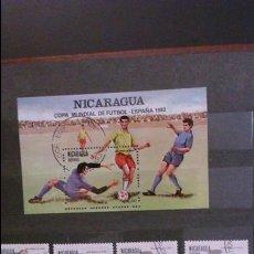 Sellos: SELLOS COPA MUNDIAL FUTBOL ESPAÑA 82 - NICARAGUA. Lote 111055163