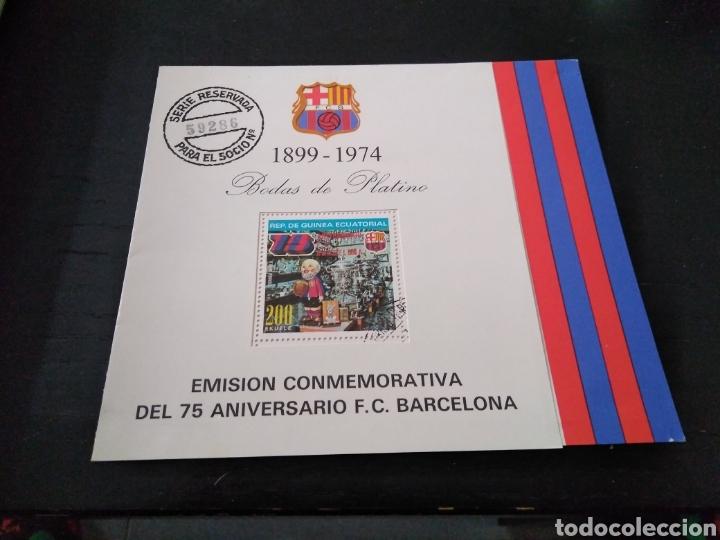 EMISION CONMEMORATIVA 75 ANIVERSARIO FCB (Sellos - Temáticas - Deportes)
