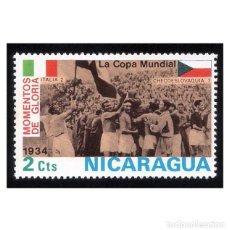 Timbres: NICARAGUA 1974. MICHEL 1767, YVERT 954 . COPA MUNDIAL FÚTBOL ITALIA-CHECOSLOVAQUIA. NUEVO* MH. Lote 112137863