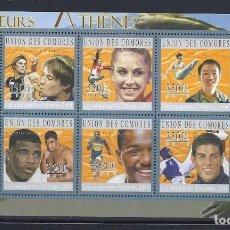 Sellos: COMORES 2010 IVERT 2113/18 *** DEPORTES - JUEGOS OLIMPICOS DE ATENAS 2004. Lote 113690239