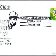 Sellos: MATASELLOS DE BEISBOL - ROBERTO CLEMENTE. PITTSBURGH PA, ESTADOS UNIDOS, 1994. Lote 113920411