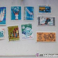 Sellos: LOTE 10 SELLOS DE BULGARIA EPOCA COMUNISTA : DEPORTES, OLIMPIADAS. Lote 114272627