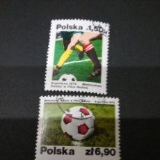 Sellos: SELLOS DE POLONIA (POLSKA) MATASELLADOS. 1978. ARGENTINA. COPA. FUTBOL. BALON. DEPORTE. MUNDIAL.. Lote 114285531