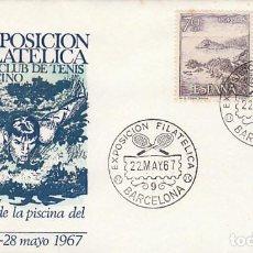 Sellos: AÑO 1967, INAUGURACION DE LA PISCINA DEL CLUB DE TENIS BARCINO, EN SOBRE DE ALFIL. Lote 115121439