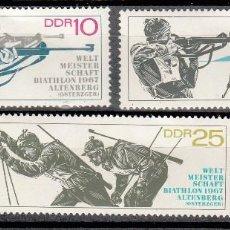 Sellos: ALEMANIA ORIENTAL 1967 - DDR - BIATHLON - YVERT Nº 948-950. Lote 115227011