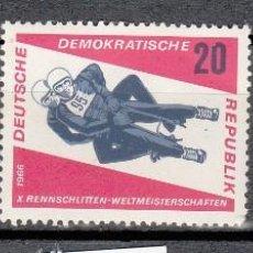 Sellos: ALEMANIA ORIENTAL 1966 - DDR - LUGE - TRINEO - YVERT Nº 853-855. Lote 115227559