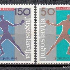 Sellos: YUGOSLAVIA 1965 - TENIS DE MESA - YVERT Nº 853-855. Lote 115228787