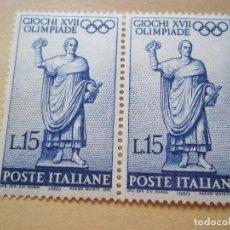 Sellos: SELLOS ANTIGUO ITALIA 1960 XVII OLIMPIADE NUEVOS CON GOMA. Lote 115509427