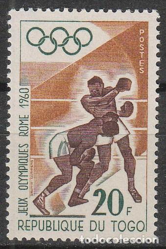 TOGO IVERT Nº 305, BOXEO, JUEGOS OLIMPICOS DE ROMA, NUEVO (Sellos - Temáticas - Deportes)