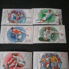 Sellos: SELLOS DE ALEMANIA, R. D. (DDR) MATASELLADOS. 1987. DEPORTES. TORNEO. JUEGOS. INFANCIA. SALTO. TENIS. Lote 116326052
