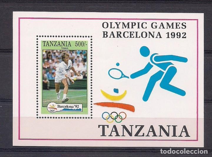 TANZANIA 1992 - JUEGOS OLIMPICOS DE BARCELONA 92 - YVERT BLOCK Nº 163 - TENIS (Sellos - Temáticas - Deportes)