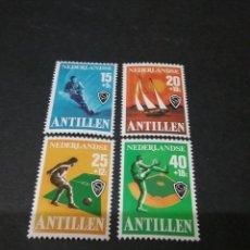 Sellos: SELLOS DE ANTILLAS HOLANDESAS NUEVOS. 1978. VELA. BARCO. ESQUI ACUATICO. BEISBOL. FUTBOL. ATLETAS.. Lote 118031694
