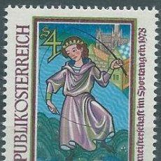 Sellos: AÑO 1978. AUSTRIA. YT 1412. MINT. CAMPEONATO DE PESCA. HISTORIA.. Lote 120008667