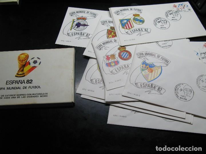 ESPAÑA 82 SOBRES DE LAS CIUDADES SEDES (Sellos - Temáticas - Deportes)