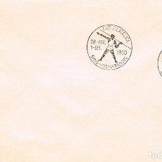 Sellos: AÑO 1960, AÑO OLIMPICO, LANZAMIENTO DE JABALINA, MATASELLO DE SANS HOSTAFRANCHS . Lote 122169643