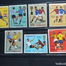 Sellos: PARAGUAY. AÑO 1969. Nº YVERT 1029-35. CAMPEONES MUNDIALES DE FUTBOL. Lote 122193767