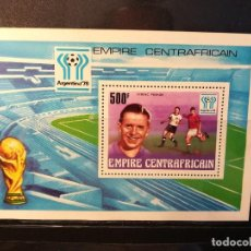 Sellos: REPUBLICA CENTROAFRICANA. AÑO 1977. Nº YVERT HB 20. CAMPEONATO MUNDIAL FUTBOL ARGENTINA 1978. Lote 123546719
