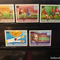 Sellos: REPUBLICA CENTROAFRICANA. AÑO 1977. Nº YVERT 315-19. CAMPEONATO MUNDIAL FUTBOL ARGENTINA 1978. Lote 123546855