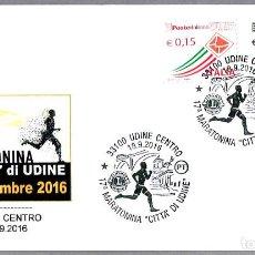 Sellos: MATASELLOS 17 MARATON CIUDAD DE UDINE. UDINE, ITALIA, 2016. Lote 124213479
