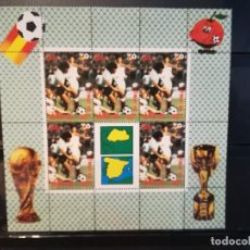 Sellos: BUTAN. AÑO 1982. Nº YVERT 558-61. EN HOJA BLOQUE. CAMPEONATO MUNDIAL DE FUTBOL ESPAÑA 1982. Lote 124678827