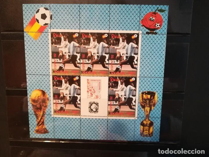 Sellos: BUTAN. AÑO 1982. Nº YVERT 558-61. EN HOJA BLOQUE. CAMPEONATO MUNDIAL DE FUTBOL ESPAÑA 1982 - Foto 3 - 124678827