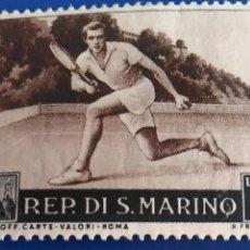 Sellos: SELLO DE REPÚBLICA DE SAN MARINO. IVERT 366. DEPORTE, TENIS.. Lote 126544447